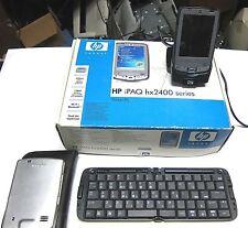 HP iPAQ hx2415  POCKET PC WITH POWER & CADDIE WIRELESS KEYBOARD SCHOOL SURPLUS