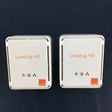 Lot 2 Prise Adaptateurs CPL Orange Liveplug HD
