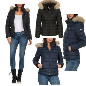Tommy Jeans Damen Winterjacke Daunenjacke TJM Essential Hooded Jacket Jacke