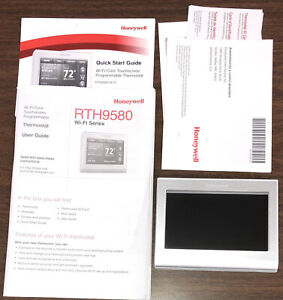 Honeywell - RTH9580WF1005 Smart Wi-Fi Touchscreen Thermostat - Silver