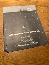 Marantz 110 Tuner Service Manual Original