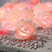 20 LED Rose Flower Fairy String Light Battery Operated Wedding Garden Party Deco