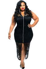 Abito ricamo Pizzo Taglie forti Grandi Curvy Formosa Plus Size Lace Dress XXXL