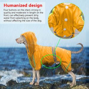 Reflective Rain Coat Waterproof Dog Hoodie Lightweight Jacket Pet Raincoat M-4XL