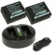 Wasabi Power Battery (2-Pack) and Dual USB Charger for Fujifilm NP-W126,NP-W126S