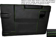 GREEN Stitch Posteriore PORTELLONE Porta Carte Pelle Copertura si adatta LAND ROVER DEFENDER 83-14
