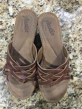 Austin Trading Co. Light Brown Wedge Sandal Ladies Size 8