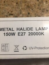 150-Watt Metal Halide Lamp Light Bulb 150watt-MH 20000K E27 Marine Reef Aquarium