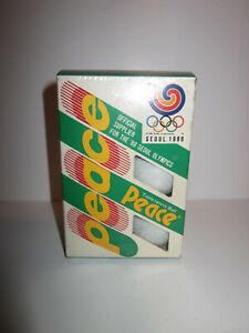 RARE BOITE 6 BALLES TENNIS DE TABLE PING PONG JO SEOUL 1988 HODORI 88 bon etat