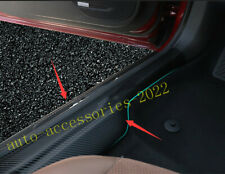 8PCS Carbon Fiber Door Sill Scuff Guard Leather Cover For Buick Regal 2018-2020