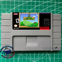 Super Luigi Land ✿ ✿ Super Mario World SNES Video Game USA Version