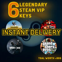 6 LEGENDARY VIP RANDOM STEAM GAMES KEY REGION FREE WORTH +90$ 🔥🔥