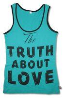 P!NK PINK Truth About Love Aqua Green Tank Top Shirt New Official Soft Unisex