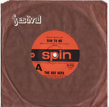 """THE BEE GEES - RUN TO ME Very rare 1972 Aussie 7"""" Single Release! EX+"""