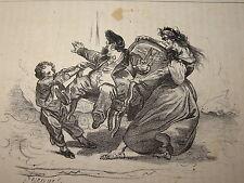CARICATURE La MODE Jacques ARAGO LOUIS PHILIPPE TRONE MONARCHIE JUILLET 1835