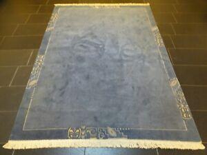 Schöner Handgeknüpfter Orientteppich Nepal Tibet Tappeto Carpet 240x170cm