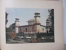 Inde : Gravure 19° in folio couleur / Agra: L'Etmad-Dowlah