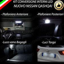 KIT LED INTERNI PER NISSAN QASHQAI J11 CON TETTO PANORAMICO + LUCI TARGA LED