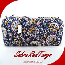 NWT VERA BRADLEY QUILTED XL TRAVELER DUFFEL BAG FLORAL CHARMONT MEADOW