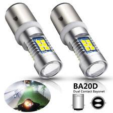 2x BA20D H6 Hi / Lo OSRAM 3030 21-SMD LED Headlight  Fog Lamp Scooter Motorcycle