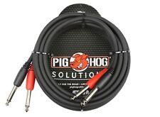 10' Dual Cable 1/4 Mono Male to 1/4 Mono Male Pig Hog