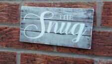 Rustic The Snug Wooden Sign Plaque Comfy Room Sign