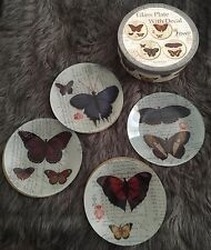Brand New Glass Plates With Decal Hand Made By Rikaro