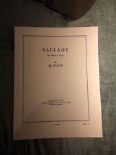 M. Poot Ballade pour basson et piano partition éditions Leduc