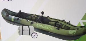 inflatable kayak sevylor fishing/hunt 2 p colorado boat canoe Quality+ pump