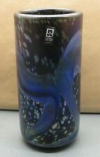 More details for lovely very rare vintage multi-coloured mdina vase made in malta su617