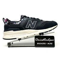 New Balance 997H Womens Floral Lace Up Comfort Black Sneaker Shoes Size 9.5