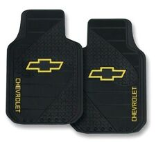Chevy Bowtie Classic Gold Logo Car Truck Rubber Floor Mats Pair Front NEW
