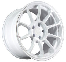 17X9 +35 Aodhan Ah06 5X100 White Wheel Fits Dodge Neon Srt4 Forester Outback WRX