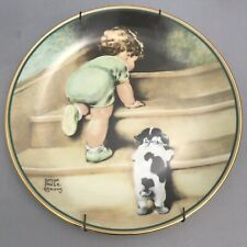 On the Up and Up Child's Best Friend Collector Plate Bessie Pease Gutmann Puppy