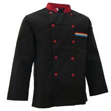 Chef Kitchen Restaurant Uniform Food Service Long Hotel Jacket Coat X Xxxl