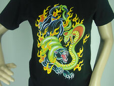 """T-SHIRT """"Panther-SERPENTE-FIAMME"""" S M L XL XXL Anche Donna-Girli Nuovo"""