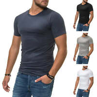NEU Jack & Jones Herren T-Shirt Basic Kurzarmshirt Shirt Top Stretch SALE %