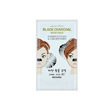 NESURA Charcoal Nose Pack Pore Strips Black Head Remover 10 Pcs
