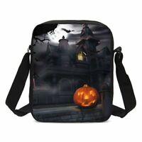 Halloween Pumpkin Lantern Crossbody Bags Outdoor Shoulder Messenger Bag Gifts
