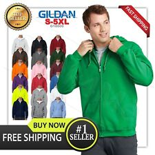 man's GILDAN Heavy Fleece full zipper Hooded Sweatshirt Hoodie G18600  S-5XL