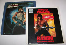 First Blood & Rambo First Blood Part 2 RCA CED SelectaVision VideoDisc Movie Set