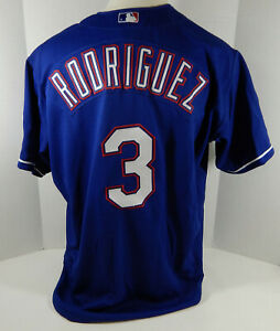 Texas Rangers Alex Rodriguez #3 Authentic Blue Jersey Rawlings NWT 52 679