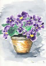 G.Schmidt Aquarell Druck 20x30 Stillleben Blumen Zeichnung Malerei Kunst SG10