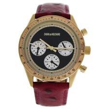 Zadig & Voltaire ZVM105 Master - Gold/Fuchsia Leather Strap Watch
