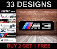BMW M3 Banner Officina, Garage, Ufficio o Concessionario PVC Banner