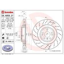 2 Bremsscheibe BREMBO 09.A958.21 COATED DISC LINE passend für MERCEDES-BENZ