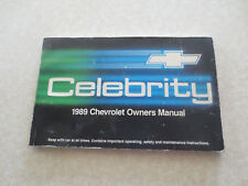 Original 1989 Chevrolet Celebrity automobile owner's manual - Chev