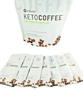 It Works! New And Improved Keto Coffee 7 Single Packets One Week Trial