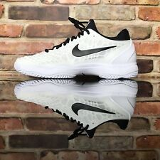39379e999651 Nike Air Zoom Cage 3 HC White Black 918193-101 Men s Tennis Shoes Size 9