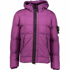 Stone Island Garment Dyed Crinkle Reps Down Jacket Grape